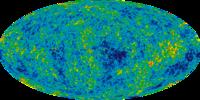 Een afbeelding van het heelal door het WMAP
