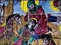 Imam Hossein above Ali Akbar, A Scene of Karbala Battle, glazed Tiles,in the Imamzadeh Aga Seied Hosseinand Aga Seied Ebrahim Fashkali Mahale, Langerud,Iran.jpg