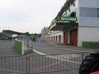 Autodromo Enzo e Dino Ferrari - The old pitlane, June 2006.