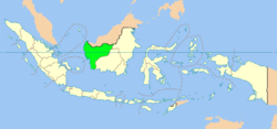 Kaart van de Provincie West-Kalimantan in Indonesië
