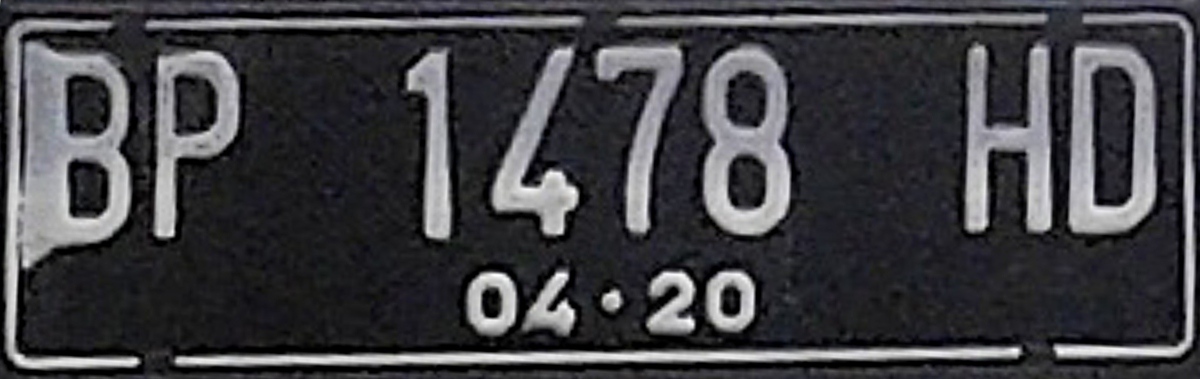 Vehicle registration plates of Indonesia - Wikipedia