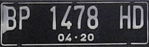 Indonesia vehicle plate from Riau Islands.png