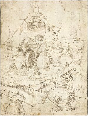 Hieronymus Bosch drawings - Image: Infernal landscape