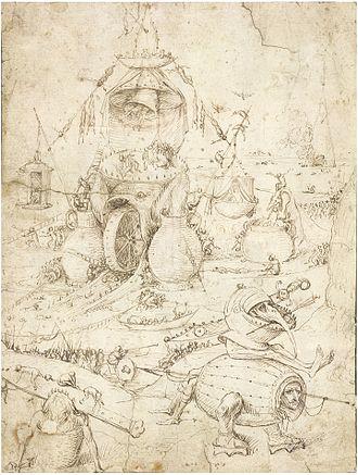Hieronymus Bosch drawings - Image: Infernal landscape