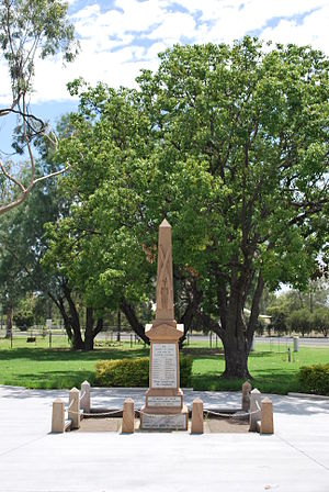 Inglewood, Queensland - The Anzac Cenotaph in Inglewood's Memorial Park.