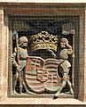 Innsbruck, Goldenes Dachl, untere Brüstung, Relief links halblinks, Wappen Ungarns.jpg