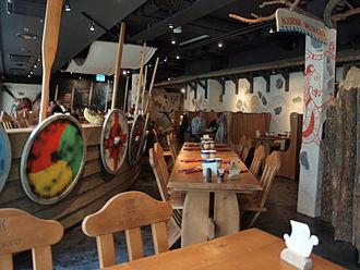Theme restaurant - Inside view of the Harald restaurant in Helsinki.