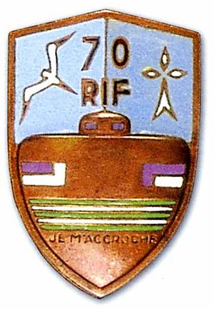 Fortified Sector of the Lower Rhine - Insignia of the 70th RIF.