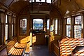 Interior of Loop Trolley car - towards end without operator (2018).jpg