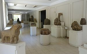Museum of Cham Sculpture - Image: Interior view Museum of Cham Sculpture Danang, Vietnam DSC01931
