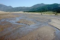 Intermittent Medano Creek Seeps through Desert Sands.jpg
