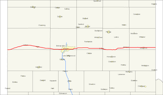 U.S. Route 66 in Texas - Image: Interstate 40 map (Texas)