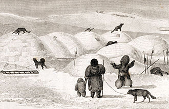 George Francis Lyon - An Inuit igloo village, by Lyon