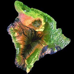 Geoinformatics - Image: Island of Hawai'i Landsat mosaic