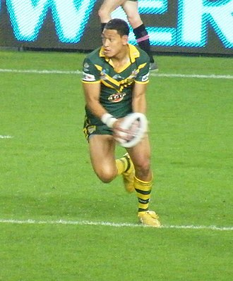 Israel Folau - Israel Folau playing for Australia in 2008.