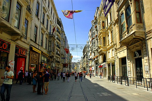 İstiklal Avenue in the Beyoğlu district of Istanbul Istiklal str. Istanbul - panoramio.jpg
