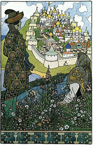 Russian culture - Buyan by Ivan Bilibin