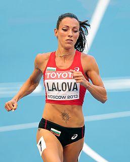 Ivet Lalova-Collio Bulgarian sprinter