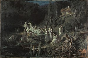 Rusalka -  Ivan Kramskoi, The Mermaids, 1871