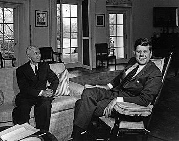 Hyman G. Rickover with President Kennedy.