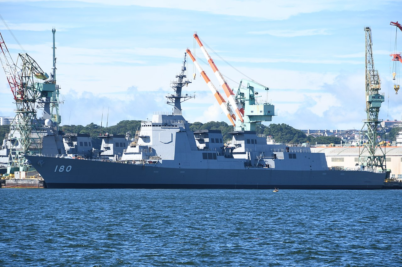 JS Haguro(DDG-180) at JMU Yokohama Shipyard July 26, 2019.jpg