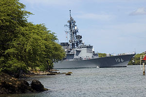 JS Samidare pulls into Pearl Harbor, -23 Jun. 2006 a.jpg