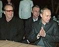 Jack Nicholson Vladimir Putin 27 June 2001 cropped retouched.jpg