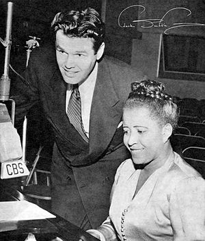 The Jack Smith Show - Jack Smith with his guest, singer Nellie Lutcher, on The Jack Smith Show