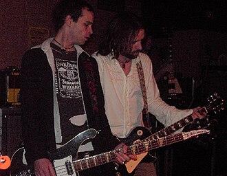 The Trews - Trews bassist Jack Syperek with guitarist John-Angus MacDonald, 2005