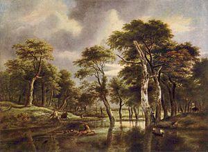 A Wooded Marsh - Image: Jacob Isaaksz. van Ruisdael 008