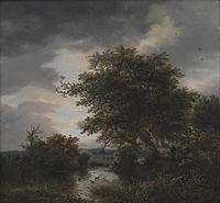 Jacob van Ruisdael - Oak Trees by a Pond.jpg