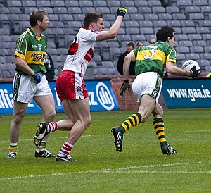 Tom O'Sullivan - O'Sullivan (right) in action against Derry in the 2009 National League final
