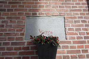 Jan van Goyen - Memorial stone in Leiden