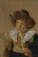 Boy smoking a pipe: Taste