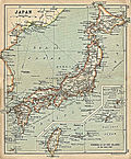Japan with inset map Formosa and Riu-Kiu Islands from A Literary and Historical Atlas of Asia, by J.G. Bartholomew. J.M. Dent and Sons, Ltd. 1912.jpg