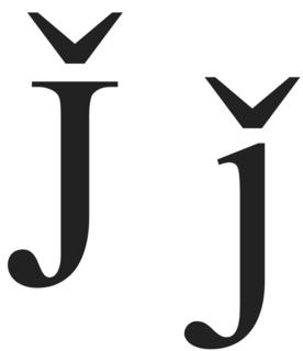 J̌ letter of the Latin alphabet