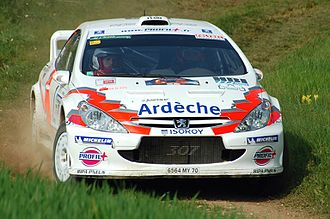Jean-Marie Cuoq - Cuoq on Rallye Terre de l'Auxerois in 2007.