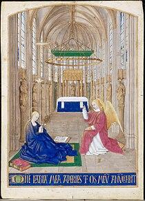 Jean Fouquet - Heures d'Etienne Chevalier, n° 204 - L'Annonciation - Google Art Project.jpg