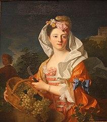 portrait d'une jeune dame en Pomone