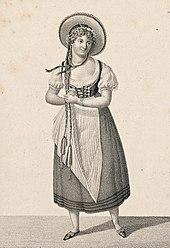 Jeanne-Charlotte Schroeder als Lisbeth (Pierre-Paul Prud'hon nach Jolly, 1801). (Quelle: Wikimedia)