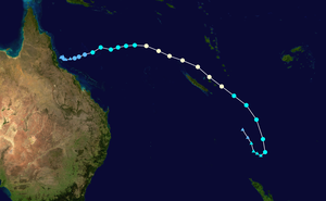 Global storm activity of 2006 - The storm's erratic track