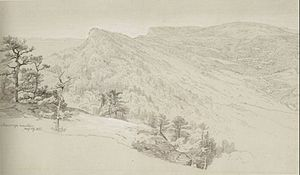 Johann Hermann Carmiencke - View of the Shawangunke Mountains, 1865, now at the Honolulu Museum of Art.