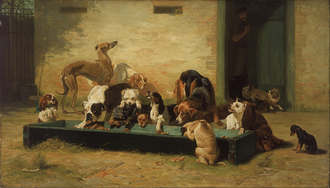Animalizam u slikarstvu.. - Page 3 1280px-John_Charles_Dollman_-_Table_d'Hote_at_a_Dogs'_Home_-_Google_Art_Project