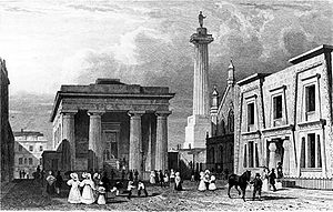 Plymouth - John Foulston's Town Hall, Column and Library in Devonport