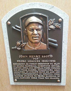 John Henry Lloyd - Plaque of John Henry Lloyd at the Baseball Hall of Fame