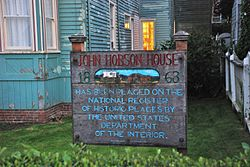 Photo of John Hobson white plaque