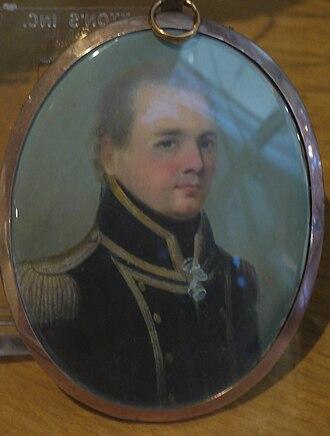 John Richards Lapenotière - A Miniature believed to depict John Richards Lapenotière