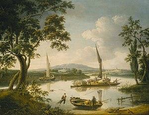 Peter boat - Image: John Thomas Serres The Thames at Shillingford