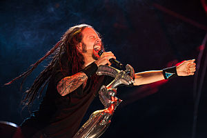 "Jonathan Davis - Davis using ""The Bitch"", August 2012."