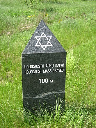 The Holocaust in Lithuania - Holocaust mass graves near city of Jonava.